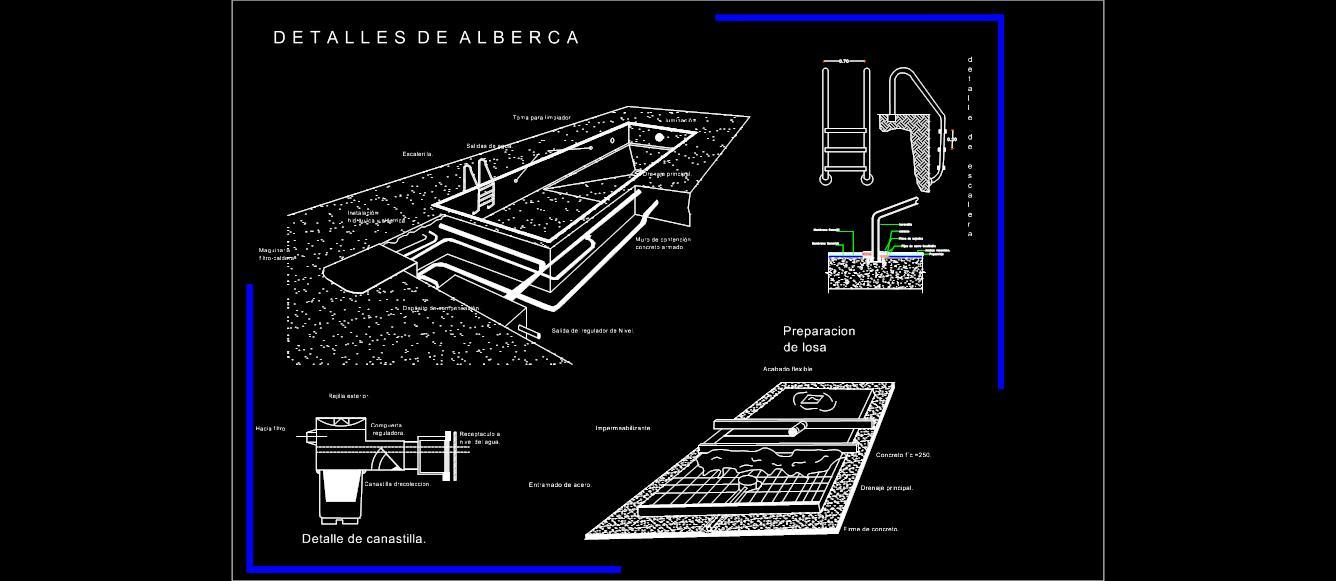 Alberca piscina planos de casas for Planos de piscinas temperadas