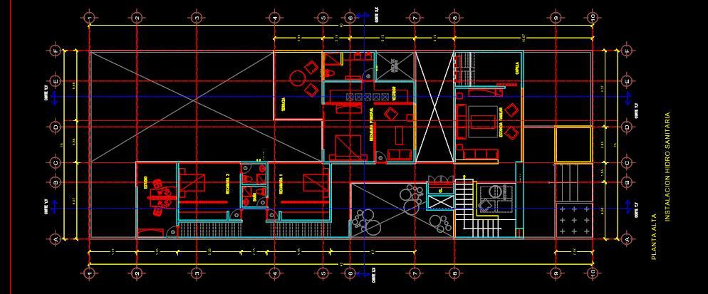 Instalacion hidraulica planos de casas for Instalacion hidraulica de una alberca