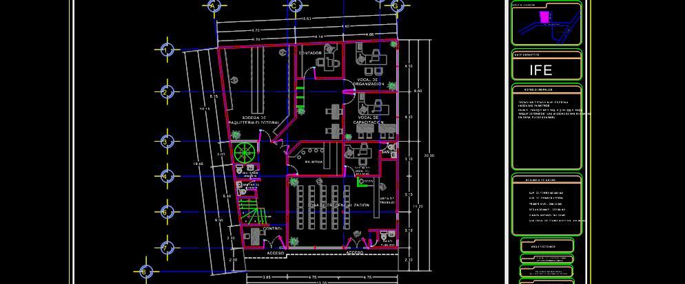 Planta arquitectonica e instalacion electrica planos de for Pie de plano arquitectonico