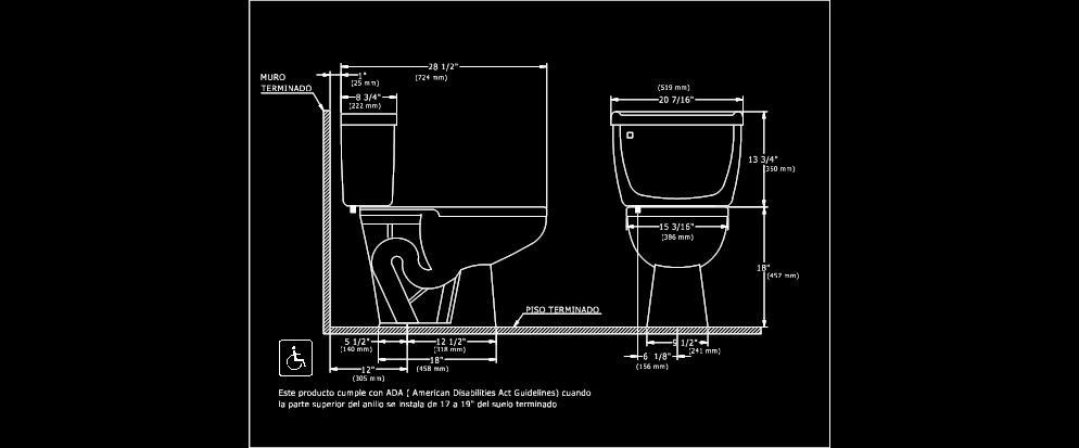 Bloques y detalles en cad planos de casas for Inodoro dwg